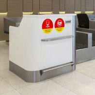 Check-in Desk Decals