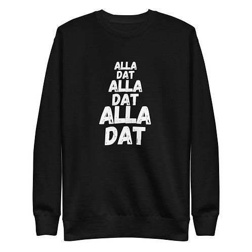 ALLA DAT (Large Chest Logo) Unisex Fleece Pullover