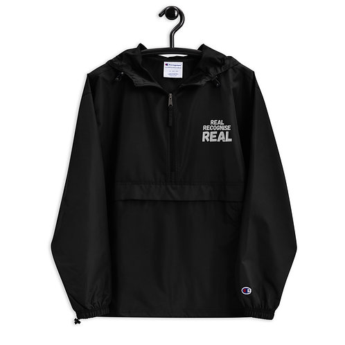 REAL RECOGNISE REAL Embroidered Champion Packable Jacket