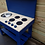 Thumbnail: 90cm single bowl mud kitchen with hobs and knobs