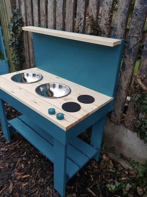 90cm twin bowl mud kitchen