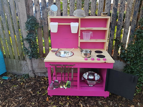 90cm mud kitchen with built in 'oven'