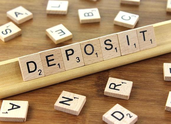 25 lbs box deposit