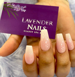 Pink White Ombre