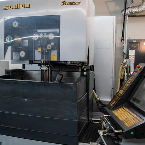 Wire EDM CNC capabilities at Progressive Machining Inc.  Waterloo, Ontario.