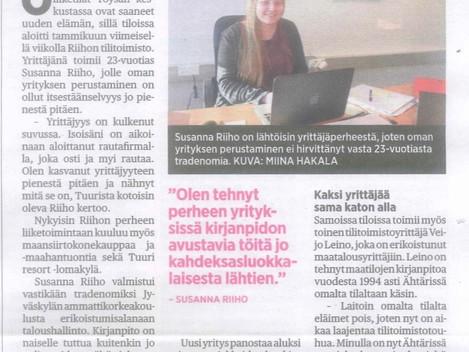 Viiskunta-lehden julkaisema uutinen 11.02.2016