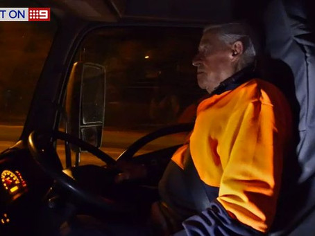 9NEWS: 'Victorian delivery driver aged in his 90s determined to keep truckin' on'