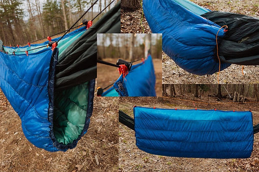 Do it yourself Underquilt made by a Loose Goose Down Supply Customer