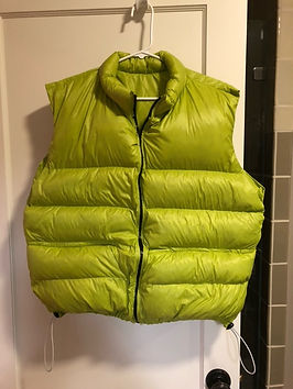 This is a DIY Ultralight Vest made with 1000 FP Down