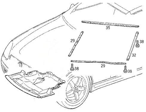 A1705240047 SLK R170 Mercedes Strebe Querstrebe Diagonalstrebe vorne r & l