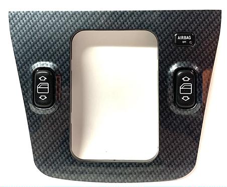 A1706800536 SLK 170 Mercedes Mittelkonsole für Fenterheberschalter  Carbon