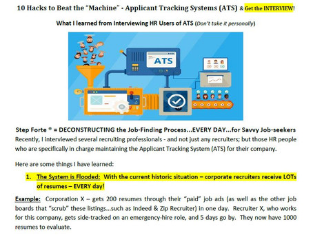 """10 Hacks to Beat the """"Machine"""" - Applicant Tracking Systems (ATS)"""