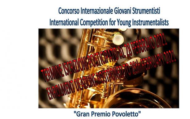 """Concorso internazionale per Giovani Strumentisti """"Gran Premio Povoletto"""""""