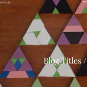 Thinking Mathematically Blog