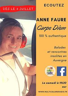 Carpe diem Anne Faure