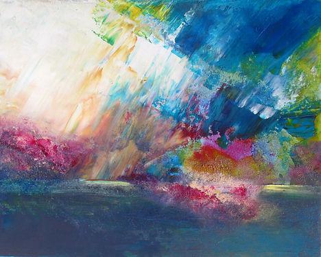 """Illusion, 16""""x20"""", acrylique sur toile"""