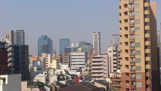 我が家のベランダからグランフロント大阪や梅田スカイビル