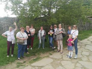 Туристы на фотосессии