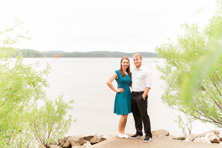 Amanda & Scott Engagement Session | Jordan Lake NC | Taylor Prickett Photography
