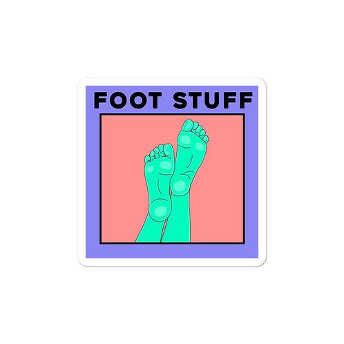 Foot Stuff Sticker