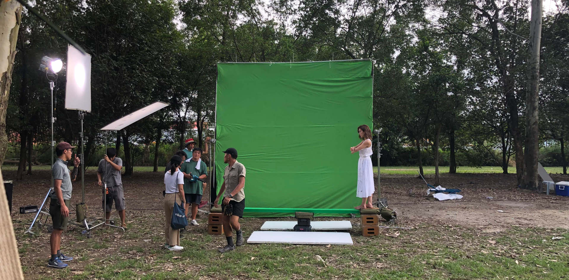 Chroma Key set up at nature - by Plan B Film Production