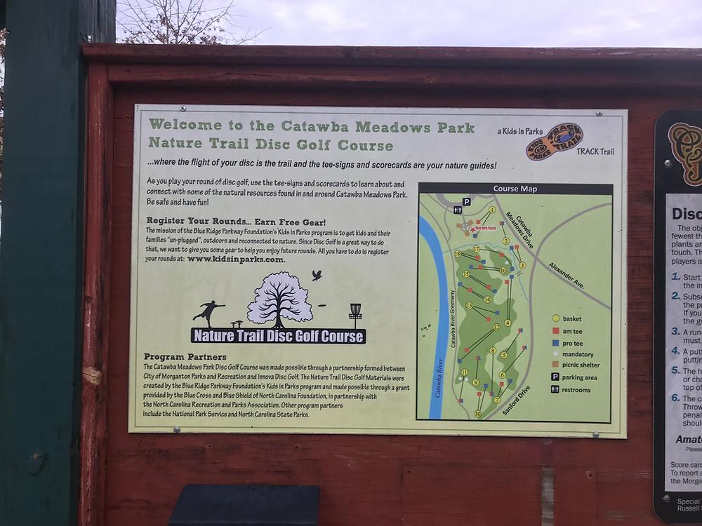 Catawba Meadows Park Nature Disc Course, Morgaton, NC Greenway