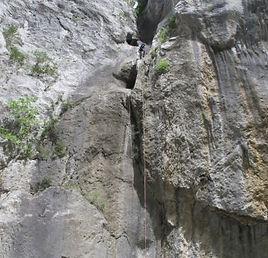 Dernier rappel dans le Verdon de La Main Morte, Canyon Main Morte Verdon canyoning, Libertagrimpe