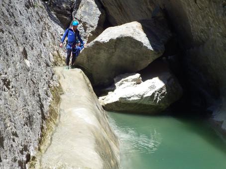 Le Canyon du Riolan. Le Canyoning à faire jusqu'à fin juillet début Août.