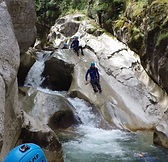 Canyon du St Auban, toboggan du st Auban, Canyon Sportif demi journée, Libertagrimpe
