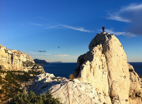 Grande voie initiation Marseille, Calanques.