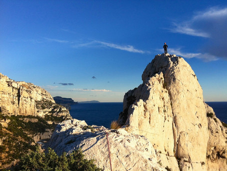 Grande voie initiation Marseille, Calanques.