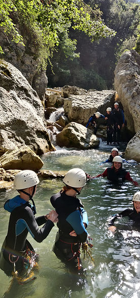 Canyoning famille du Gours du Ray, Gréol