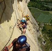 Via ferrata Calanques, Via ferrata Marseille, encadrement Via ferrata, guide pour via ferrata Calanques, parcours aux Calanques
