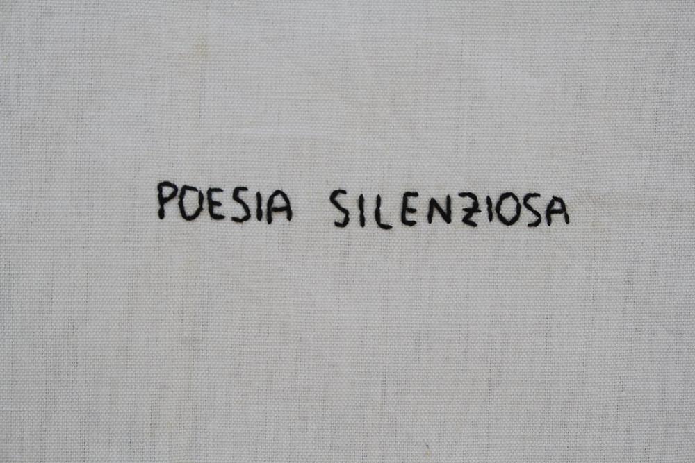 POESIA SILENZIOSA 2021 textile artwork by Alessandra Belgrado