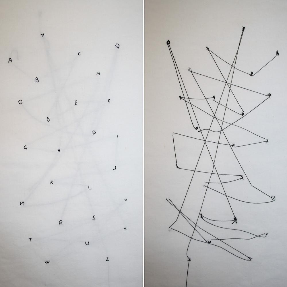 'Tutte le lettere che siamo', 2020 textile artwork by Alessandra Belgrado