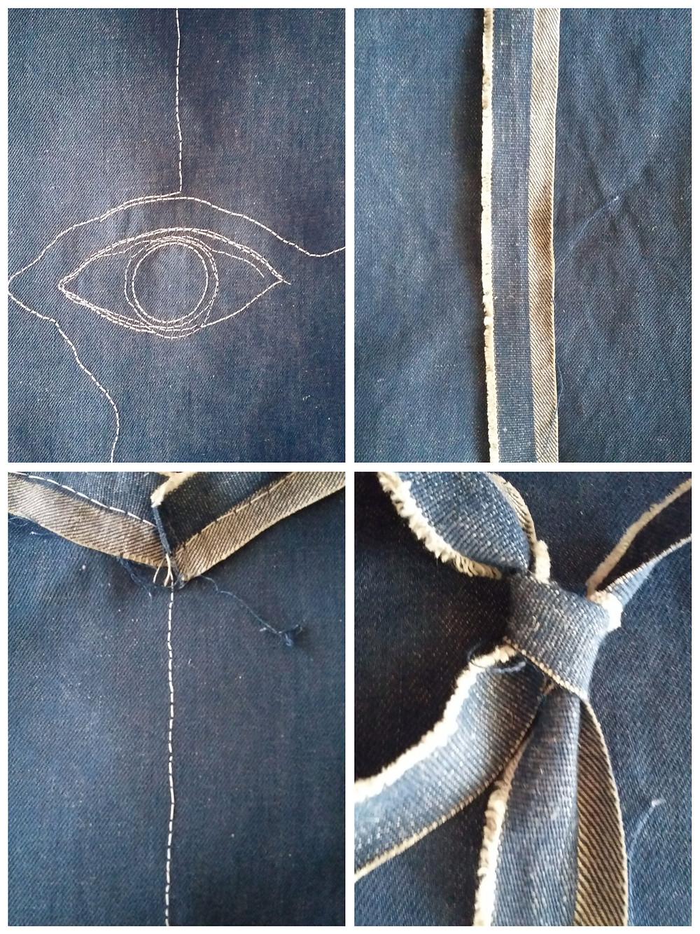 'Osservare', 2019 textile artwork by Alessandra Belgrado