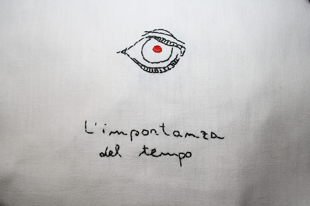 'L'importanza del tempo', 2020 textile artwork by Alessandra Belgrado