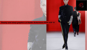 STEAMY AND SHARP GRAPHICS AT HAIDER ACKERMANN PFW A/W 19