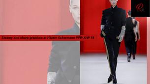STEAMY AND SHARP GRAPHICS AT HAIDER ACKERMANN PFW A/W 19
