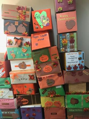 Thanksgiving boxes, 2017