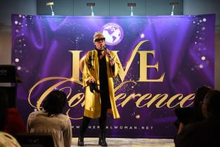 Pastor Kim on stage