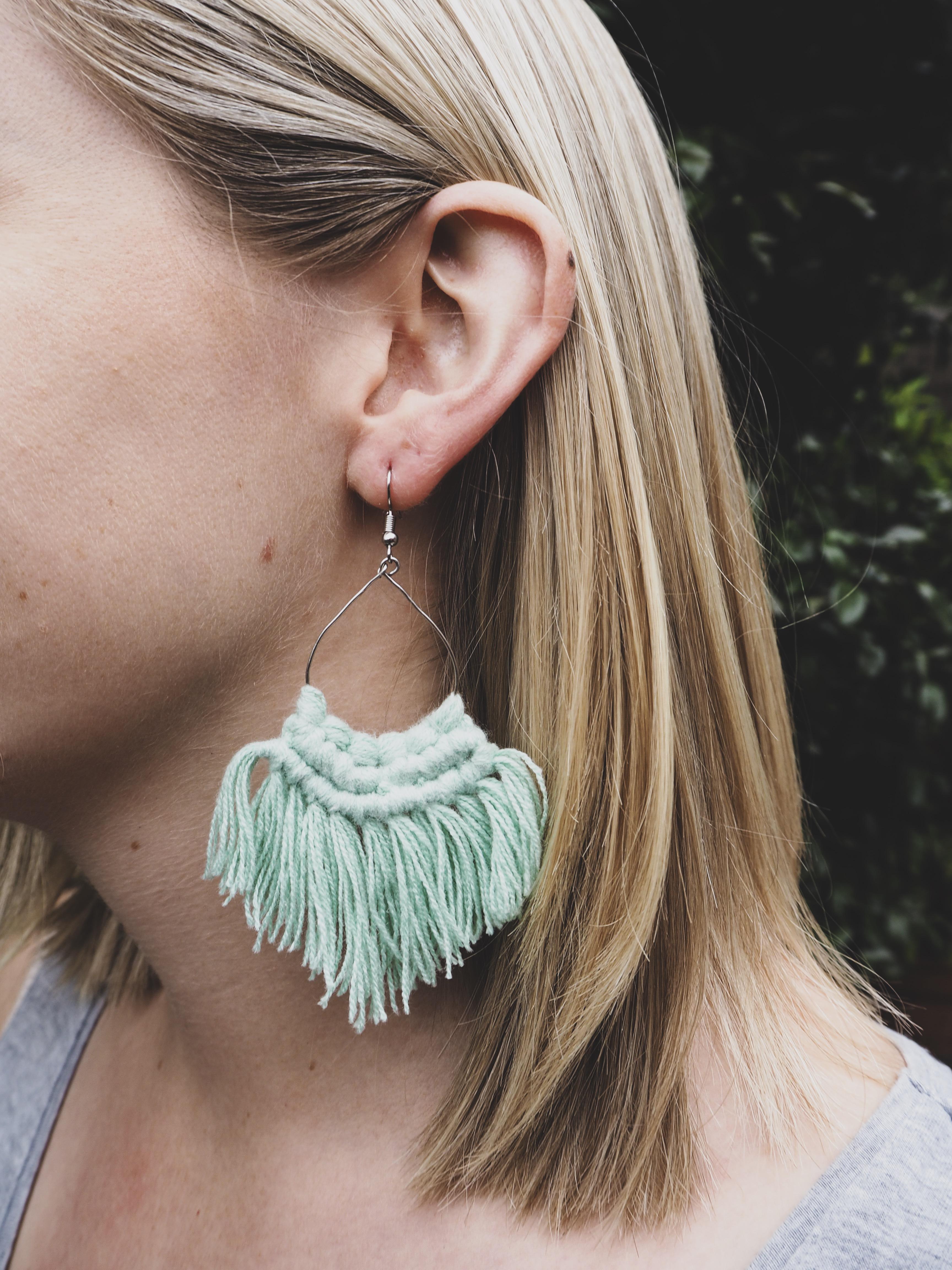 MIA Tassel Earrings in Mint