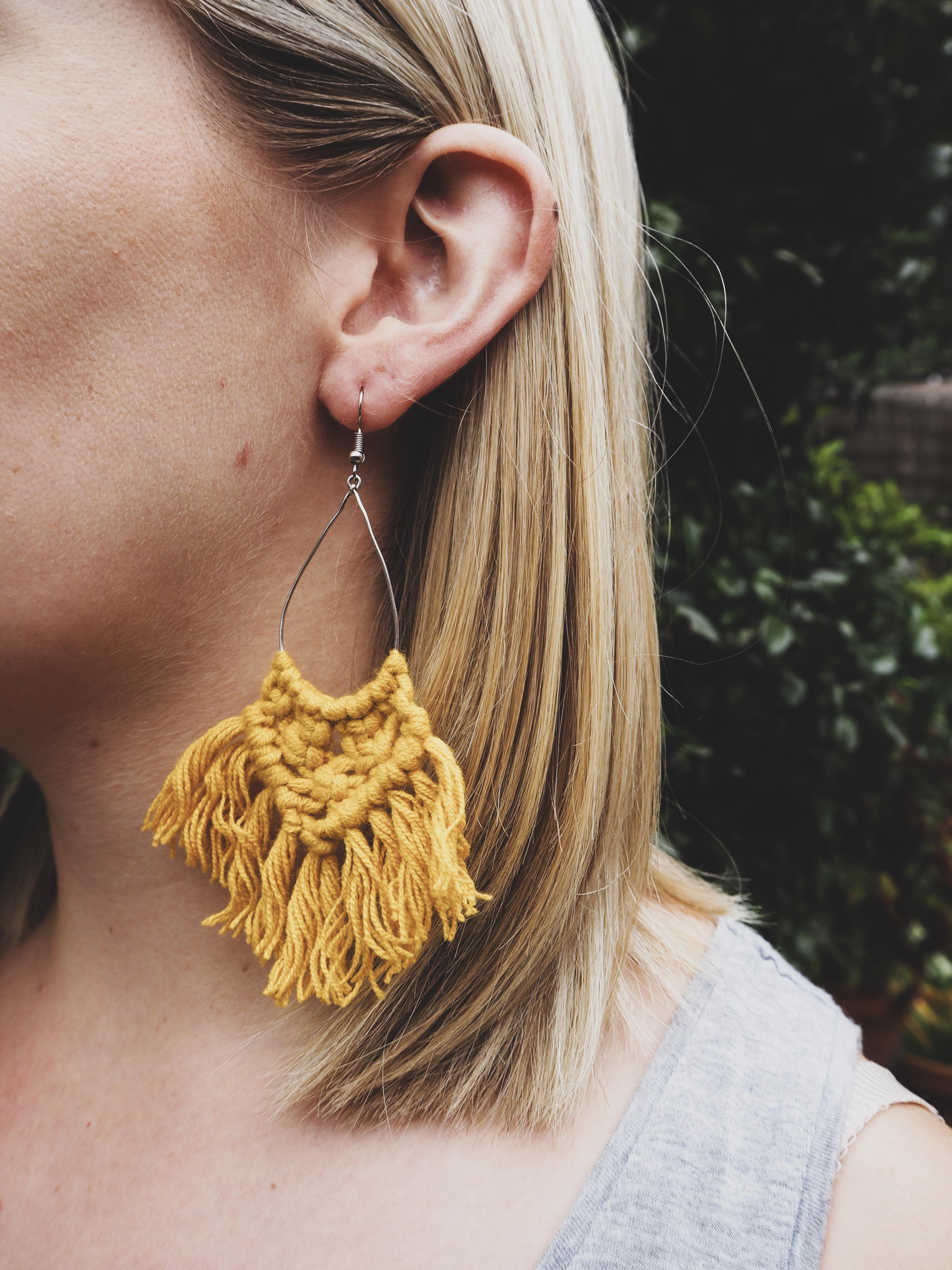 KIRA Tassel Earrings in Ochre