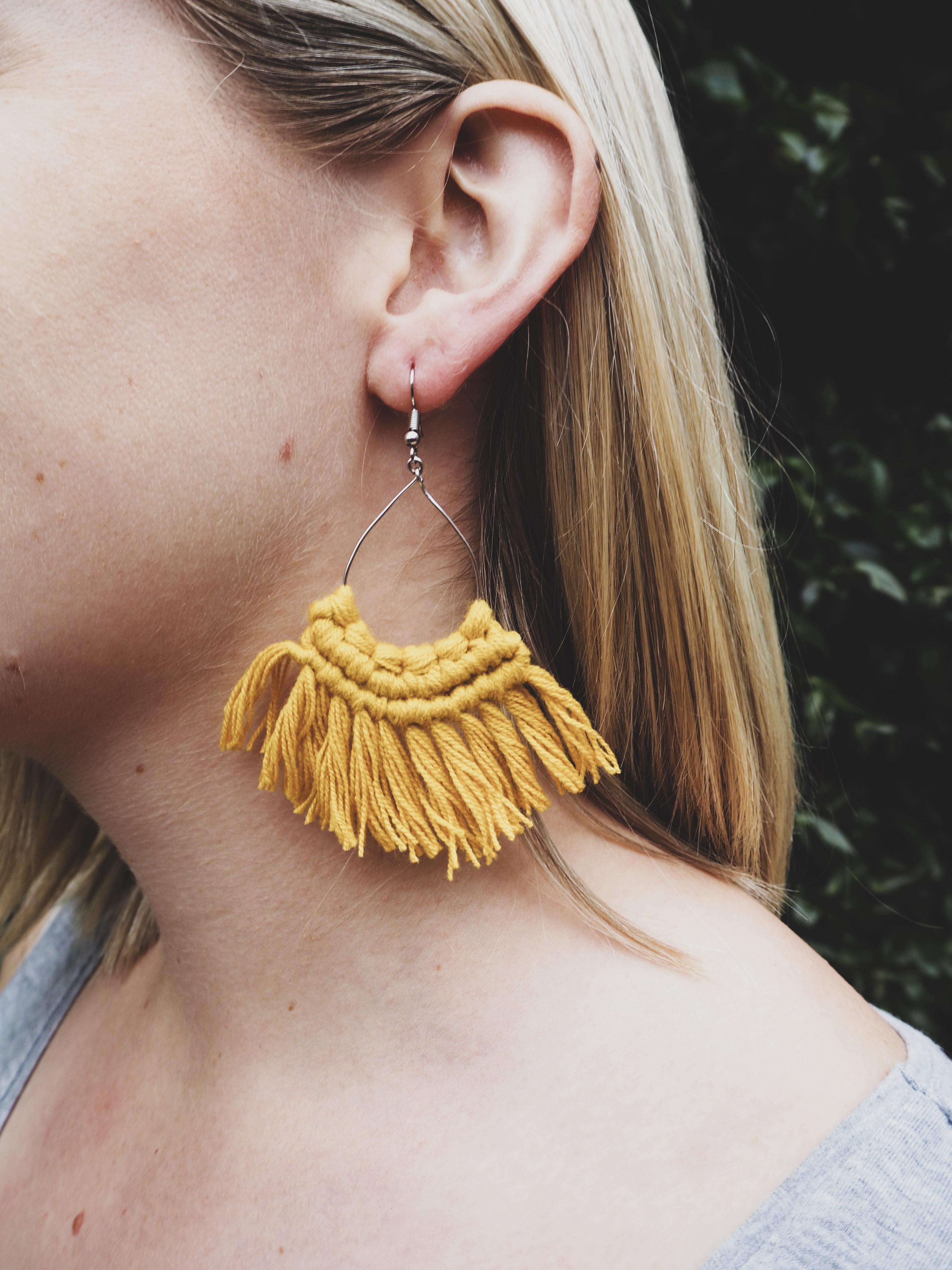 MIA Tassel Earrings in Ochre