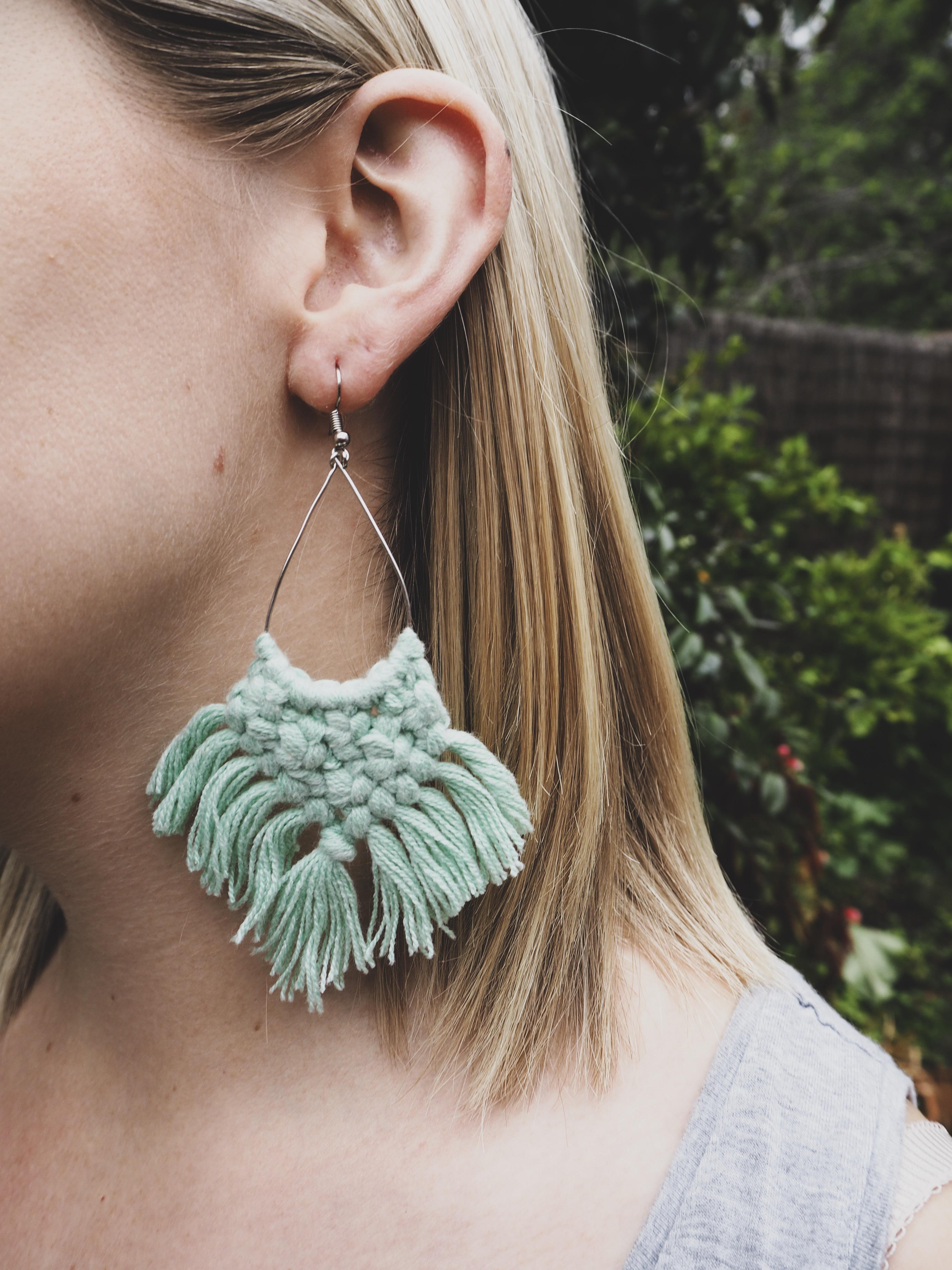 KIRA Tassel Earrings in Mint