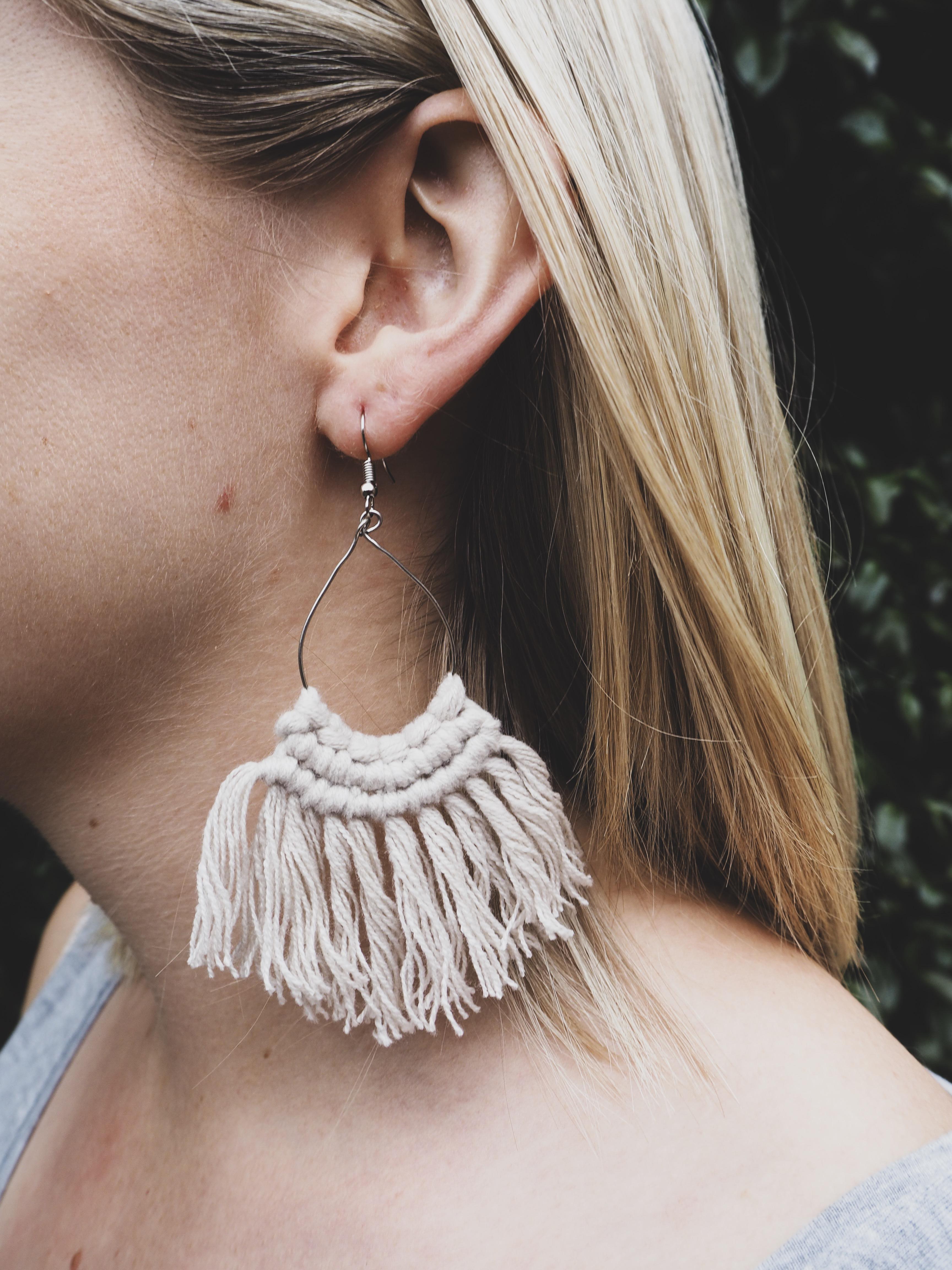 MIA Tassel Earrings in Sand