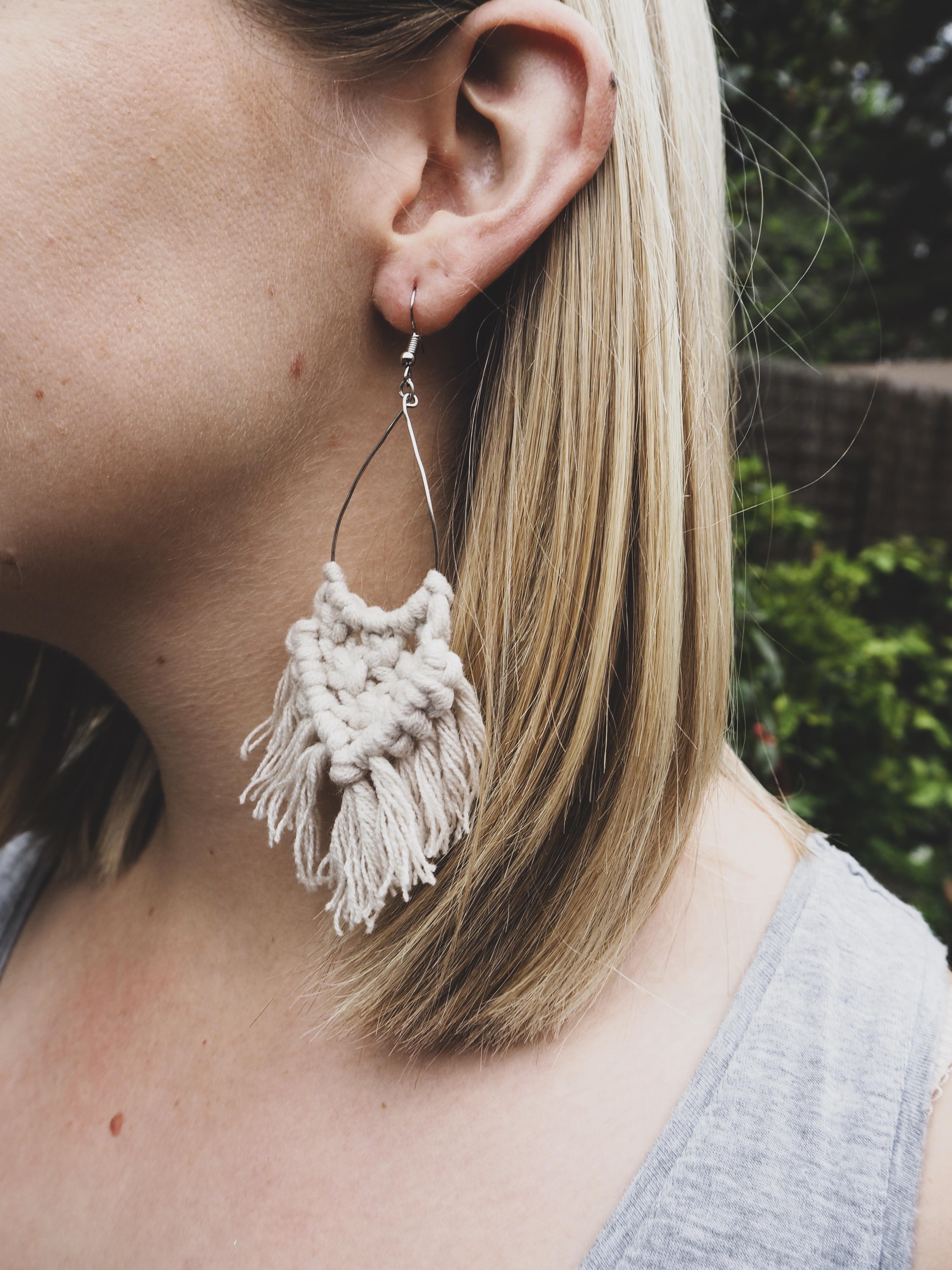KIRA Tassel Earrings in Sand