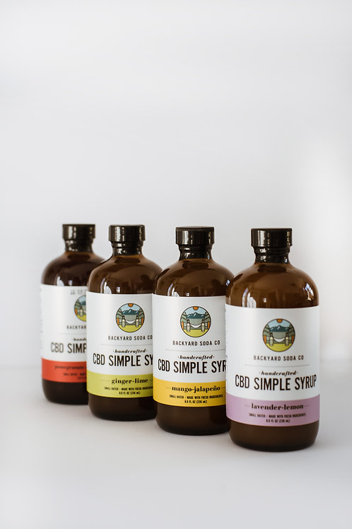CBD Simple Syrup 4-Pack