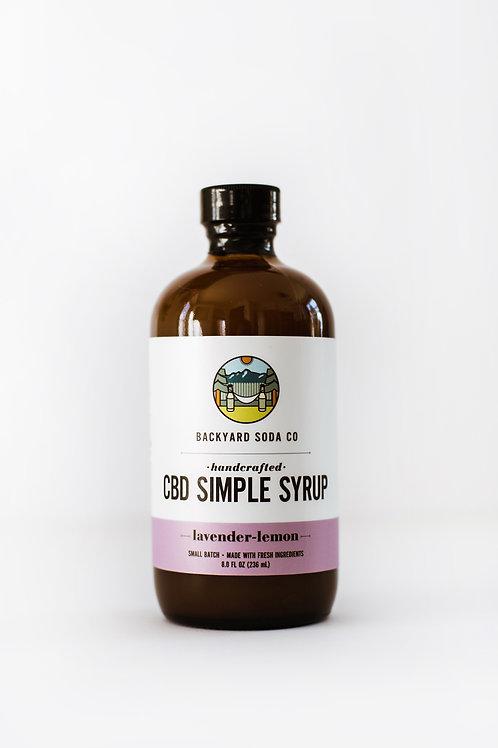 Lavender Lemon CBD Simple Syrup