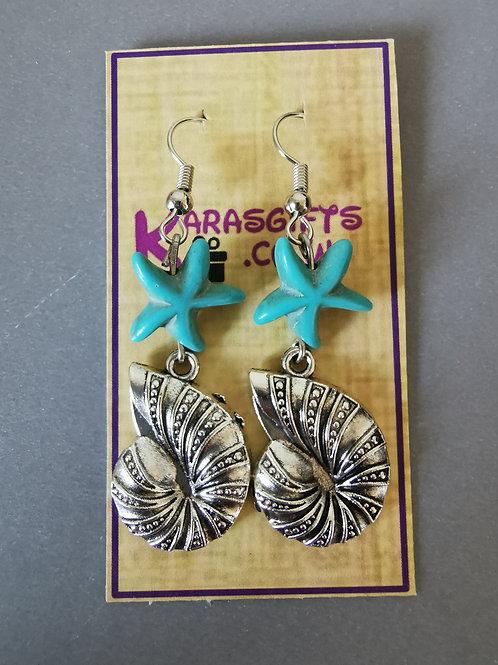 Bespoke Handmade Large Shell Dangle Earrings